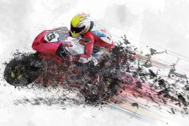graphic design of bike rider