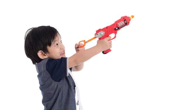 What Limits have to be set when playing with nerf guns for 2-year-old.